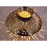 THE CARDAMOM TREE Traditional Rajasthani Decorative Handicraft Circular Metal Tea Light Candle Holder Home Decor...