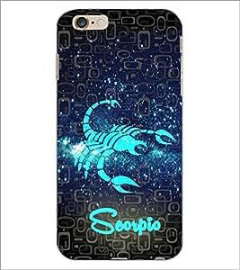 PrintDhaba Zodiac Scorpio D-2803 Back Case Cover for APPLE IPHONE 6 PLUS (Multi-Coloured)