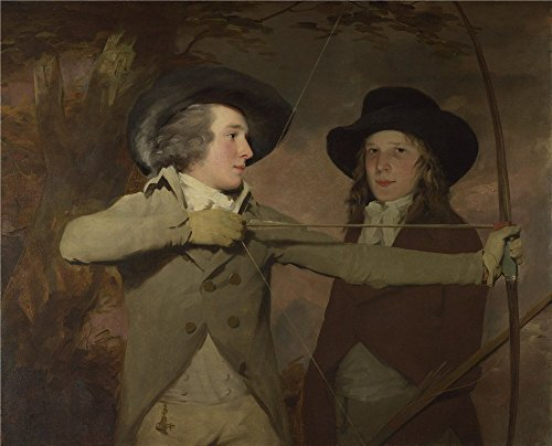 Polyster Canvas ,the Vivid Art Decorative Canvas Prints Of Oil Painting 'Sir Henry Raeburn 'The Archers' ', 24 X 30