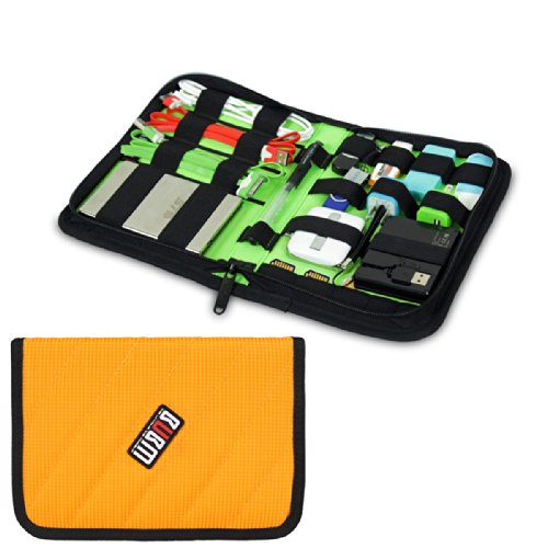 Damai Portable Electronics Accessories Organizer / Travel Organiser / Hard Drive Case/ Baby Healthcare & Grooming Kit-6 Color (Orange) front-730976