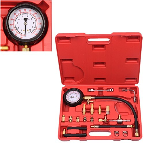 BETOOLL HW0138 0-140PSI Fuel Injector Injection Pump Pressure Tester Gauge Kit Car Tools (Fuel Injector Pump compare prices)