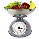 EatSmart Precision Retro Mechanical Kitchen Scale, Silver