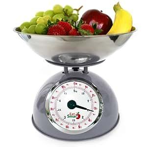 EatSmart Precision Retro Mechanical Kitchen Scale, Silver