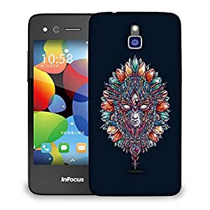 Snoogg Adivasi Mask Designer Protective Back Case Cover For INFOCUS M2