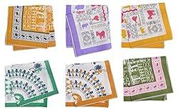 iva Women's Handkerchief (Multi-Coloured, Set of 6)