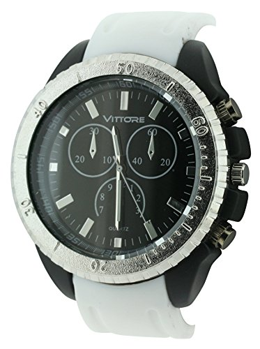 bdv-unisex-quartz-watch-with-black-dial-analogue-display-and-white-strap-bdv28-d