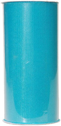Darice 2913-35 6-Inch-by-25-Yard Tulle, Turquoise