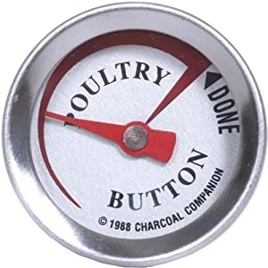Charcoal Companion Reusable Poultry Button Thermometer by Charcoal Companion