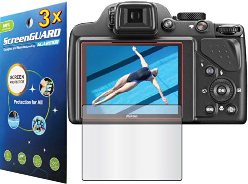 3X Nikon Coolpix P530 Digital Camera Premium Clear Lcd Screen Protector Guard Shield Kit (No Cutting, Guarmor Brand)