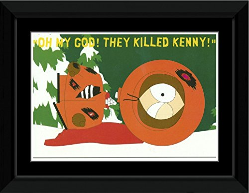 South Park - They Killed Kenny Framed and Mounted Print - 10.2x14.7cm
