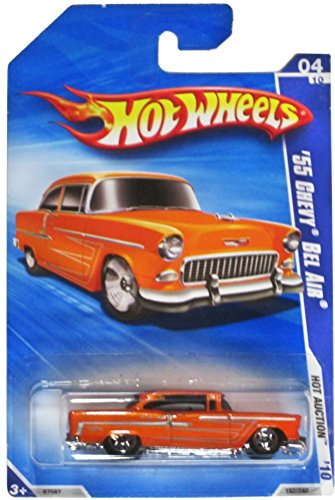 Hot Wheels '10 Hot Auction Orange '55 Chevy Bel Air 162/240