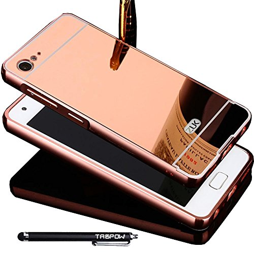 Lenovo ZUK Z2 Case, TabPow Mirror Case Series - Electroplate Bumper Bling Luxury Slim Hard Back Case Cover For Lenovo ZUK Z2, Rose Gold (Z2 Case Bumper compare prices)