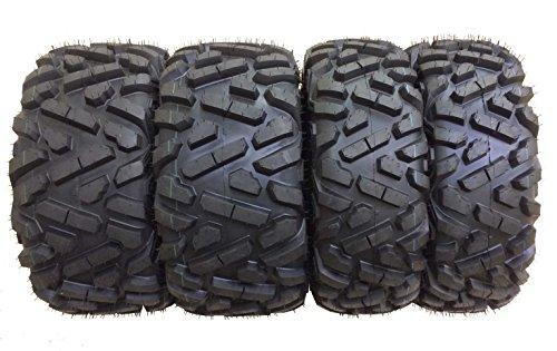 Set of 4 New WANDA ATV/UTV Tires 27x9-12 Front & 27x10-12 Rear /6PR P350 - 10170/10172 (Atv Rims And Mud Tires Set compare prices)