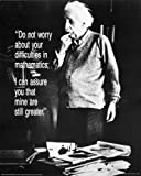 1 X Albert Einstein - Do Not Worry Quote Poster