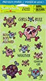 Girls Rule Skulls Sparkle Scrapbook Stickers (NES1055A)