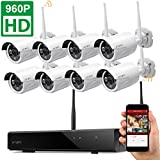 Dream-Liner-WiFi-Booster-xmartO-WOS1388-8-Channel-960p-HD-Wireless-Security-Camera-System-with-8x-960p-HD-Outdoor-Wireless-IP-Cameras-Built-in-Router-13MP-Camera-IP66-80ft-IR