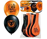 Toy - 8 Luftballons * HALLOWEEN * - Auch f�r Kindergeburtstag oder Party // mit 85cm Umfang // Luftballon Ballons Deko Motto Kinderparty Hexe Verkleidung Karneval Fasching