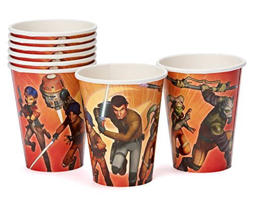 American Greetings Star Wars Rebels 9-Ounce Paper Party Cups (8 Count), Party Supplies - 1