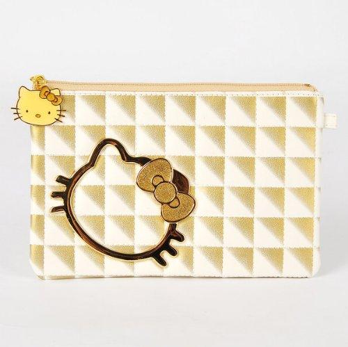 Hello Kitty Girls Flat Cosmetic Case Makeup Bag
