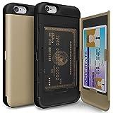【iPhone6S ケース】 TORU® [CX PRO] アイフォン6S アイフォン6 [カード収納] iphone6 ハードケース おしゃれ [ゴールド] デュアルレイヤーケース [衝撃緩和] TPUラバー [ミラー付き] プラスチックカバー iPhone 6 (4.7 インチ)用 (116SSEC-GD)