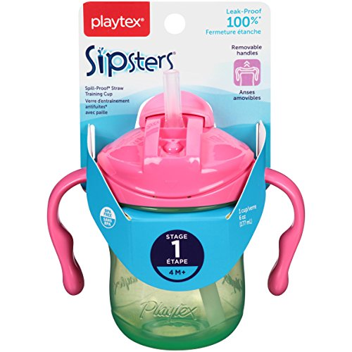 Playtex Sipsters Stage 1 Straw Sippy Cups - 6 Ounce (Playtex Lil Gripper Straw Cup compare prices)