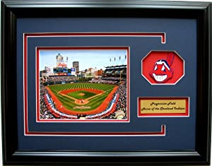 CGI Sports Memories Cleveland Indians Progressive Field Photo Frame with 3D Double... by CGI Sports Memories