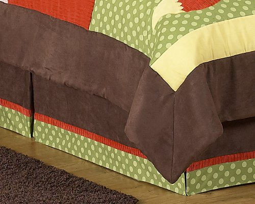 Queen Bed Skirt For Forest Friends Bedding Sets By Sweet Jojo Designs front-168281