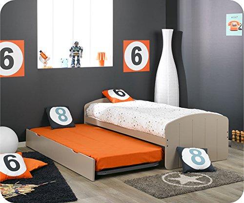 Machambredenfant - Pack lit Gigogne Dream'In lin avec 2 matelas