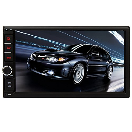 NAVISKAUTO(TM) 7 Inch Universal Android 4.4 KitKat Double Din in Dash Car Stereo Touch Screen GPS Navigation Support SW-Control/Reverse Camera/AM/FM/USB/Bluetooth/3G/WIFI/iPod/iPhone Input
