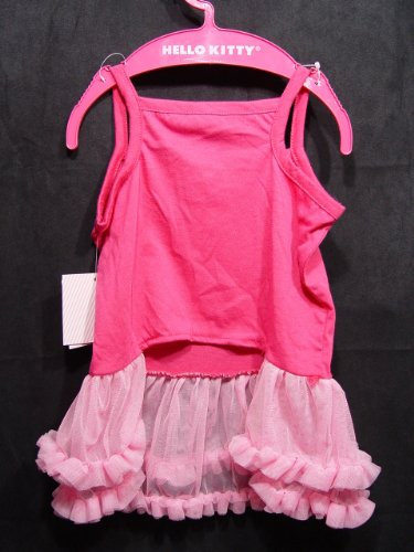Girl-Dog-HELLO-KITTY-LOLLIPOP-RUFFLED-TUTU-DRESS-Pink-Pet-Clothes-Costume-LARGE