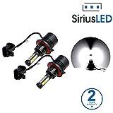 SiriusLED X2 Extremely Bright COB LED Chip 8000 Lumens Headlight Bulbs Conversion Kit H13 9008 6000K Xenon White