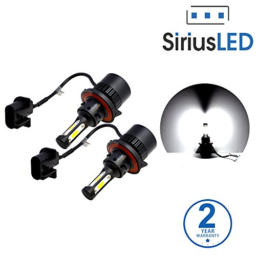 SiriusLED X2 Extremely Bright COB LED Chip 8000 Lumens Headlight Bulbs Conversion Kit H13 9008 6000K Xenon White (Led Headlight 2011 F250 compare prices)