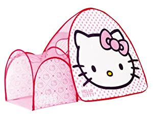 hello kitty my first pop up tent and tunnel. Black Bedroom Furniture Sets. Home Design Ideas