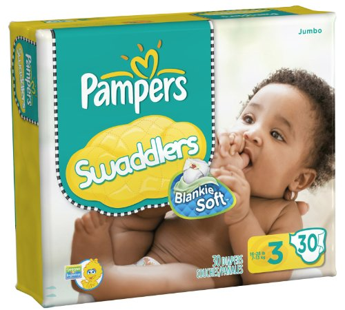 Pampers Swaddlers Original Diapers - Size 3 - 30 Ct