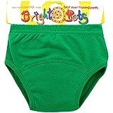 Bright Bots lavable-Pantalones de entrenamiento para el orinal, última versión Pul todos los colores. verde verde Talla:Large (up to approx 30 months)