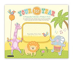 Orange Circle Studio 13-Month Your First Year Undated Keepsake Wall Calendar (51133)