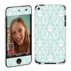 Apple iPod Touch 4G (4th Generation) Vinyl Protection Decal Skin Teal Retro