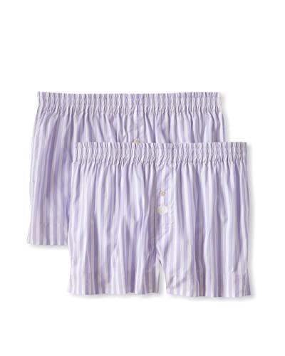 Max Holliday Men's The Simon Stripe 2-Pack Boxers  [Lilac]