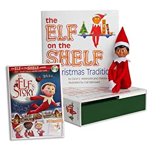 "The Elf on the Shelf: A Christmas Tradition with Brown Eyed North Pole with Bonus ""An Elf Story"" DVD"