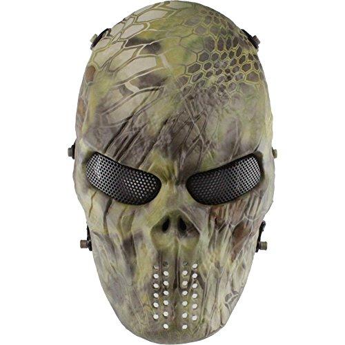 Fashion Shop Face Predator Airsoft/BB Gun/CS Game Thermoplastic polyurethanes(TDR) Tactical Skull Mask (Camouflage)