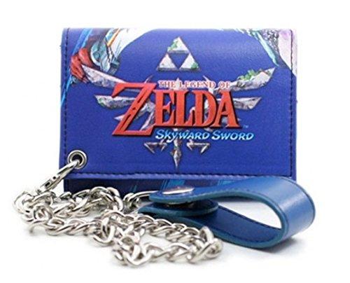 Nintendo Zelda Skyward Sword Blue Chain Portafoglio
