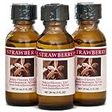 Bakto Flavors Natural Strawberry Flavor (1FL OZ) Pack of 3
