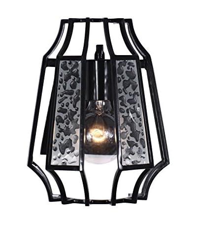 Varaluz Go-Go 1-Light Sconce With Line Up Glass, Black