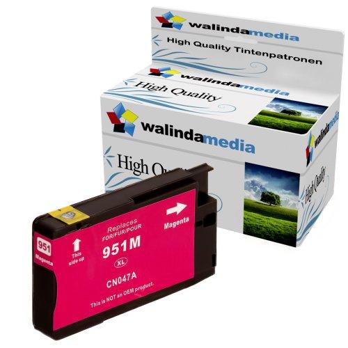 1x Druckerpatrone Ersatz für Hp 1x 951 XL Original Walindamedia Tinte Magenta, 1.500 Seiten Leistung Ersatz für Hp CN047AE ( 951 xl , HP 951 XL ) , Rot