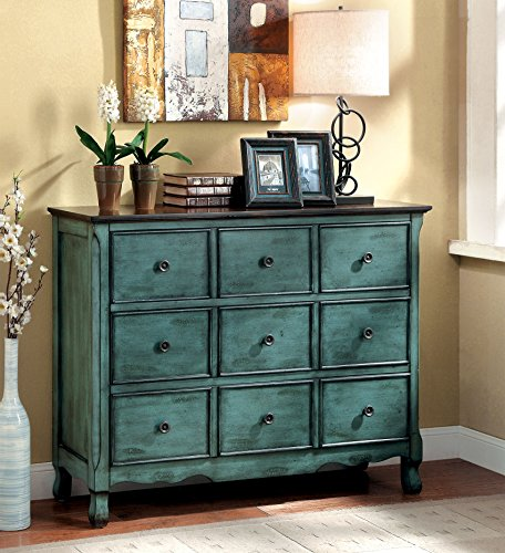 Furniture of America Camina Vintage Style Storage Chest, Antique Green/Brown 0