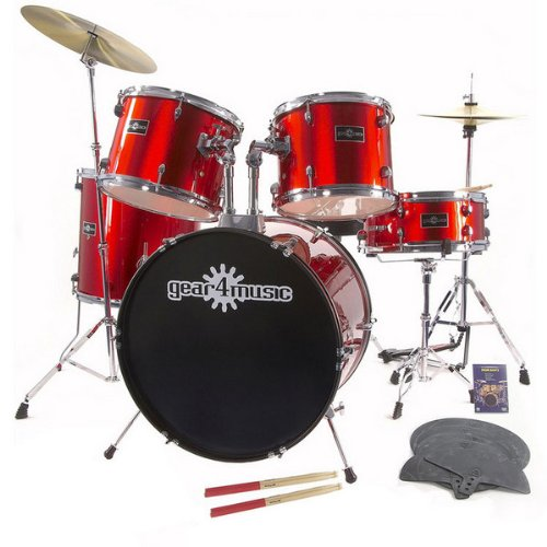 GD-1 Drum Kit + Complete Beginners Pack Red