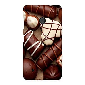Special Chocolate Sweets White Brown Back Case Cover for Lumia 530