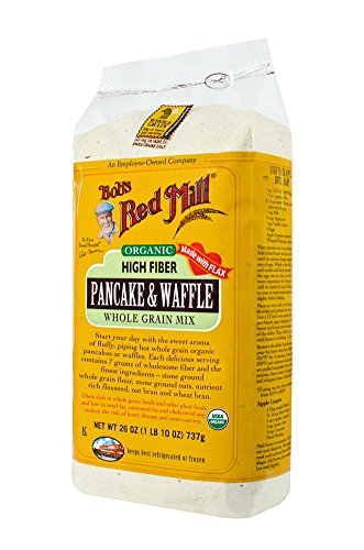 Bob's Red Mill Organic High Fiber Whole Grain Pancake & Waffle Mix, 26 Oz