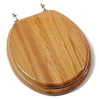 Round Oak w/ Brass Hinges