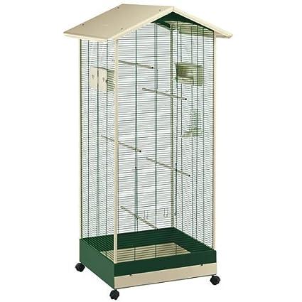 Vogelvoliere 160 cm Fernpalast in Grün und Beige